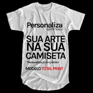 Personalize sua camiseta longline em poliéster
