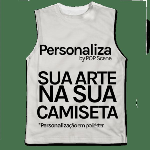 Personalize sua camiseta regata em poliéster