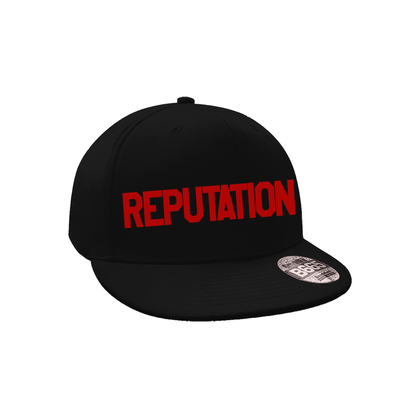 bd329d8161e04 Boné Snapback Aba Reta – Reputation - Taylor Swift (Preto) - Loja ...