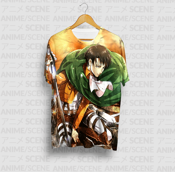 6a52dd28d Camiseta Levi 2 - Shingeki no Kyojin - Anime Scene
