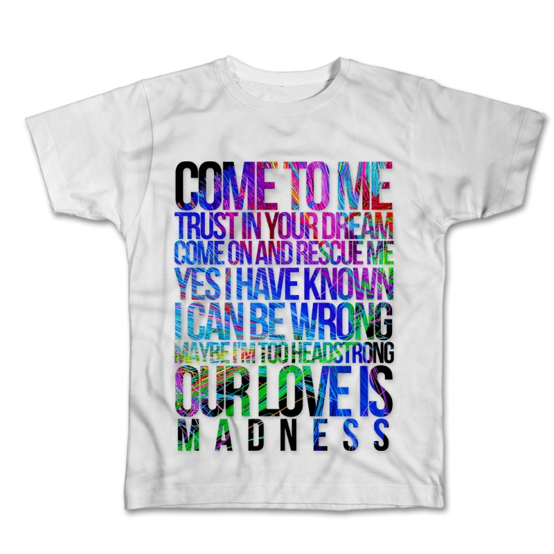 (PRONTA ENTREGA) Camiseta Madness Lyrics - Muse