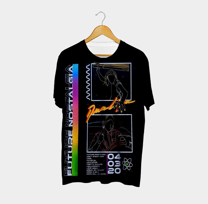 Camiseta Future Nostalgia Neon - Dua Lipa