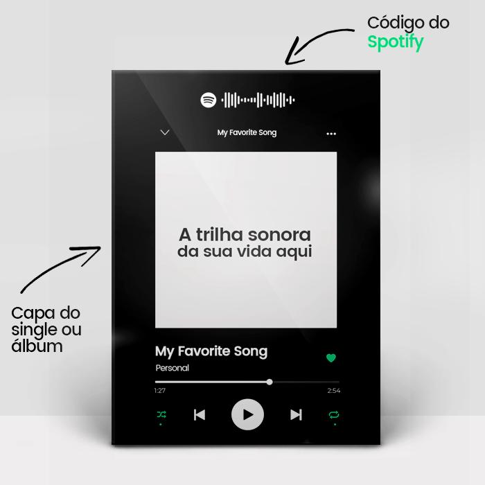 Placa Spotify Personaliza - Faça a sua